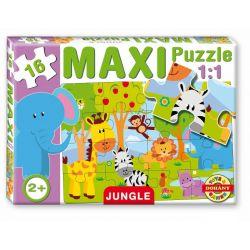 Maxi puzzle 16 dielov, džungľa
