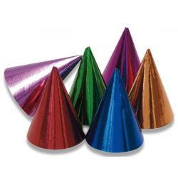 Farebné papierové party klobúčiky