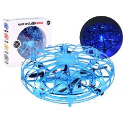 Lietajúce dron UFO ovládaný rukou, modrý