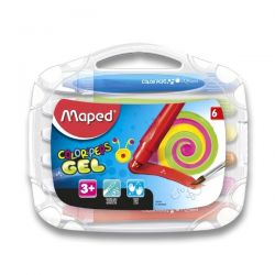 Gélové pastely Maped ColorPeps Gel, 6 farieb