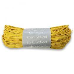 Prírodný darčekový povrázok, žltý
