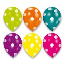 Nafukovacie balóny Dots, 6ks