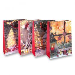 Papierová darčeková taška Vianoce M