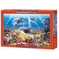 Castorland Puzzle Delfíny pod vodou, 500 dielov
