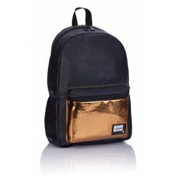 HEAD Black- Štýlový koženkový batoh