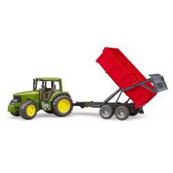 Bruder traktor John Deere a vyklápacia vlečka