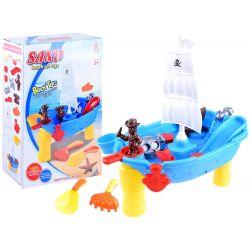 Pirátska loď – vodný stolík, pieskovisko 2v1