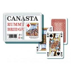 Hrací karty Canasta v plastové krabičce