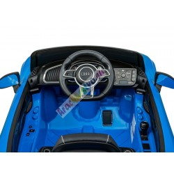 ELCARS elektrické autíčko AUDI R8 Spyder, licence, kožená sedačka, EVA kola