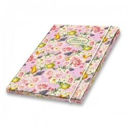 PIGNA Nature Flowers, 3 chlopenní desky s gum. A4